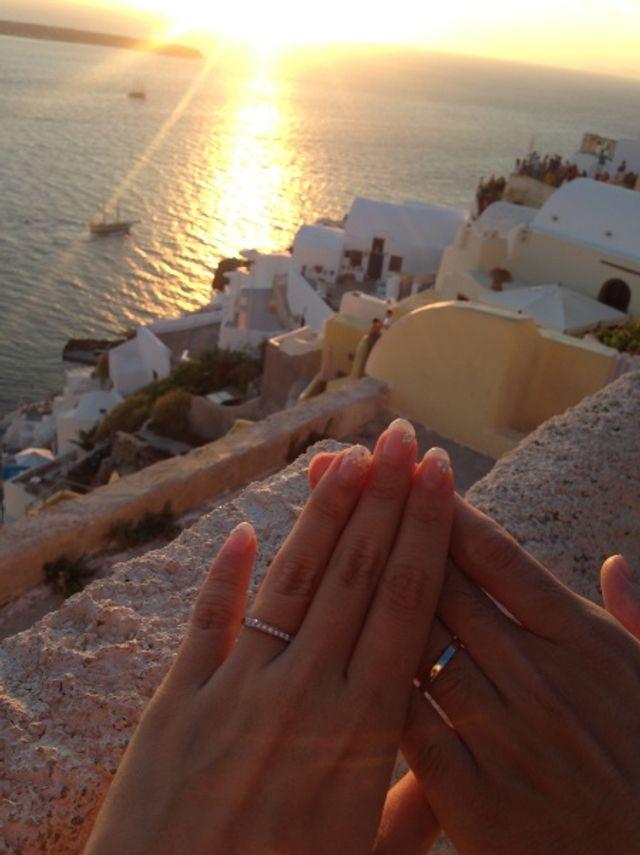 新婚旅行先のギリシャで撮りました。
