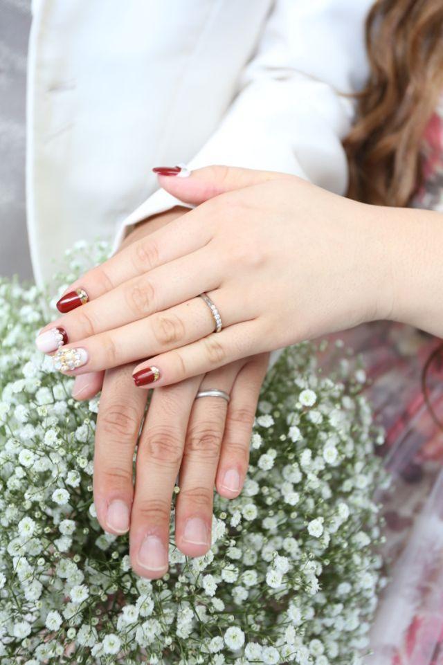 結婚式で指輪交換した後