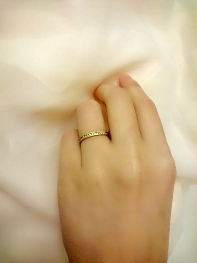 ダイヤがキラキラと輝きます