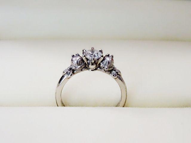 ディズニーのチップとデールのオーダーメイドでつくった婚約指輪
