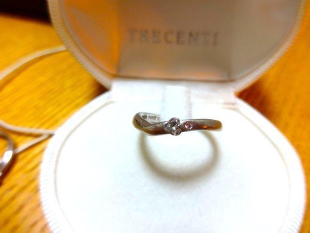 結婚指輪 ハートのダイヤ