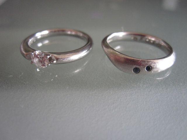 結婚指輪と並べたところ