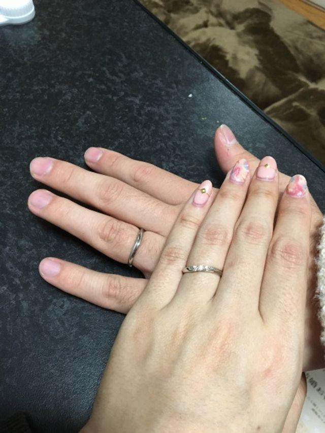 ダイヤモンドシライシで結婚指輪を購入しました。