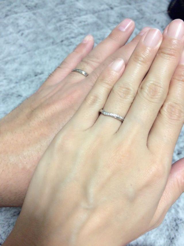 とても綺麗な指輪です!