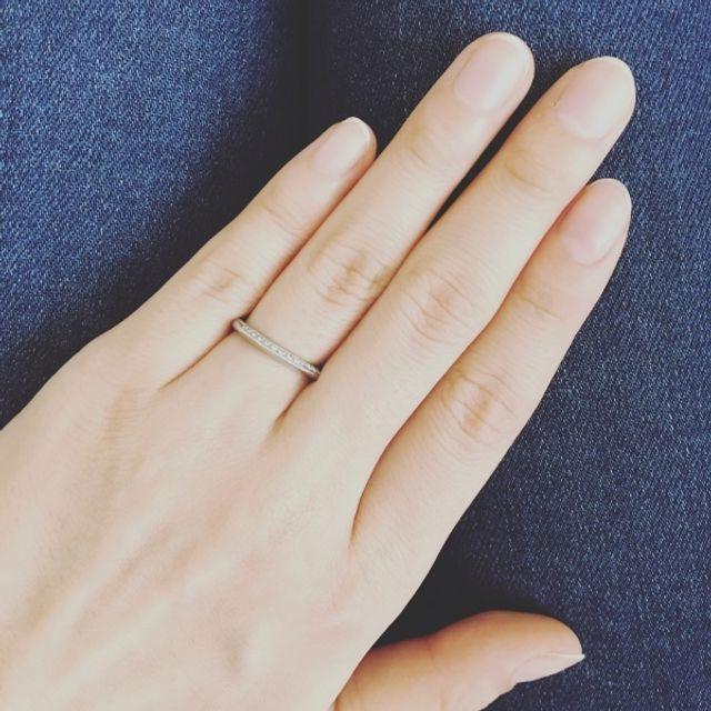片面だけのシンプルダイヤモンド
