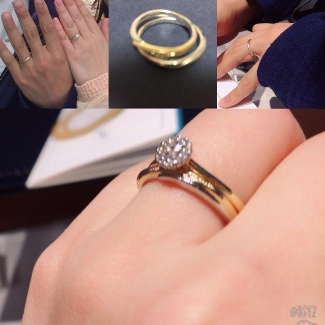 婚約指輪と一緒につけても、違和感がなくてお気に入りです。