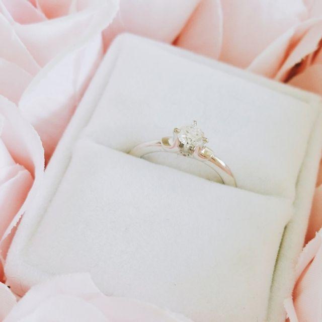 指輪もケースも可愛らしく満足です!