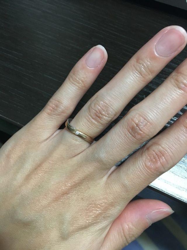 婚約指輪を作らなかったので、結婚指輪にダイヤを♡