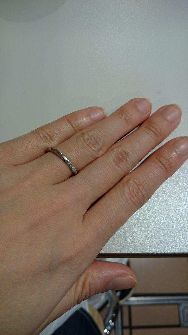 指にはめた状態