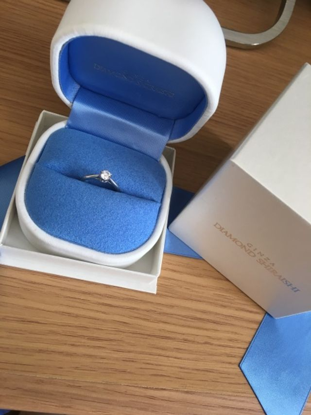 ダイヤモンド銀座の婚約指輪