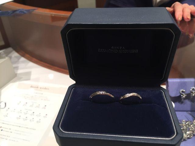 ダイヤモンドシライシさんで結婚指輪を購入しました。