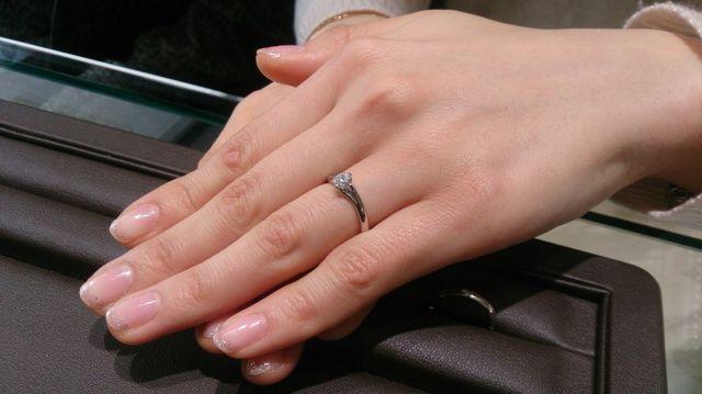 婚約指輪のみつけたところ