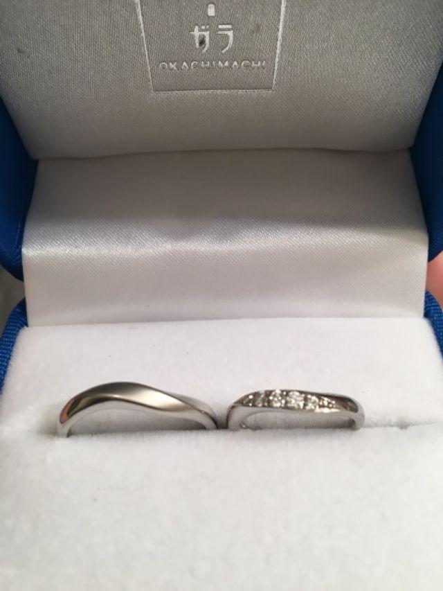 ガラOKACHIMACHIで購入した結婚指輪です。