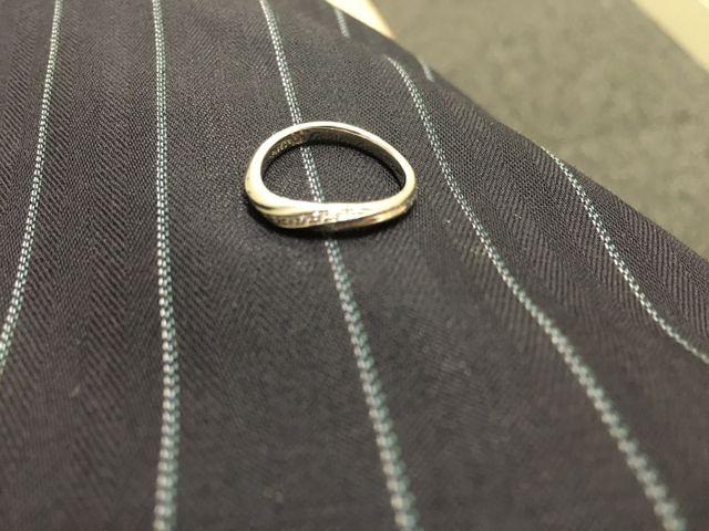 結婚指輪です。銀座ダイアモンドシライシで買いました。