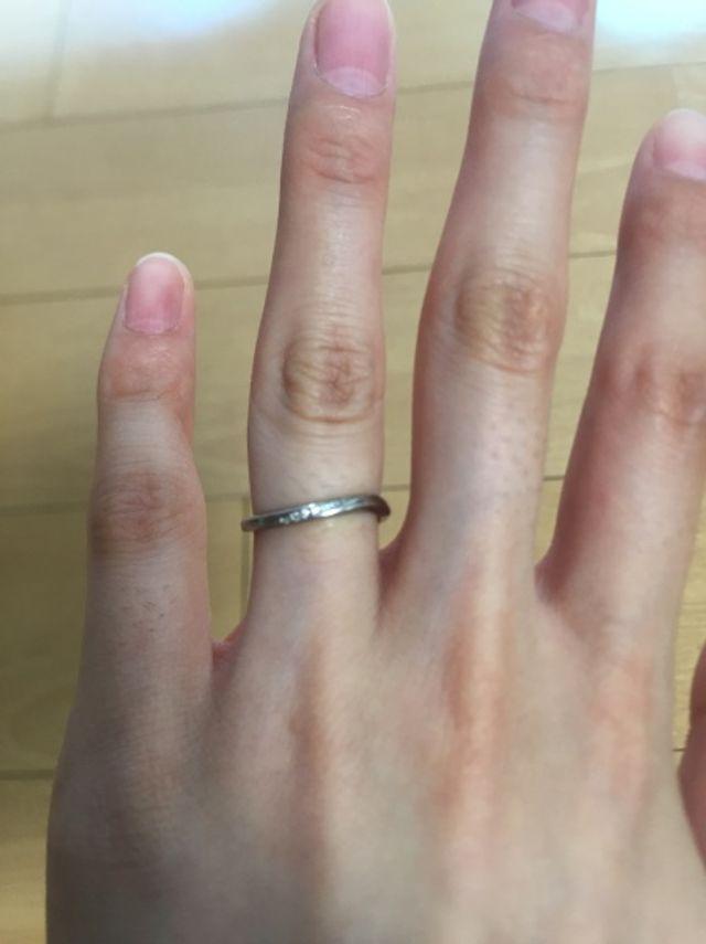 結婚指輪として購入しました。