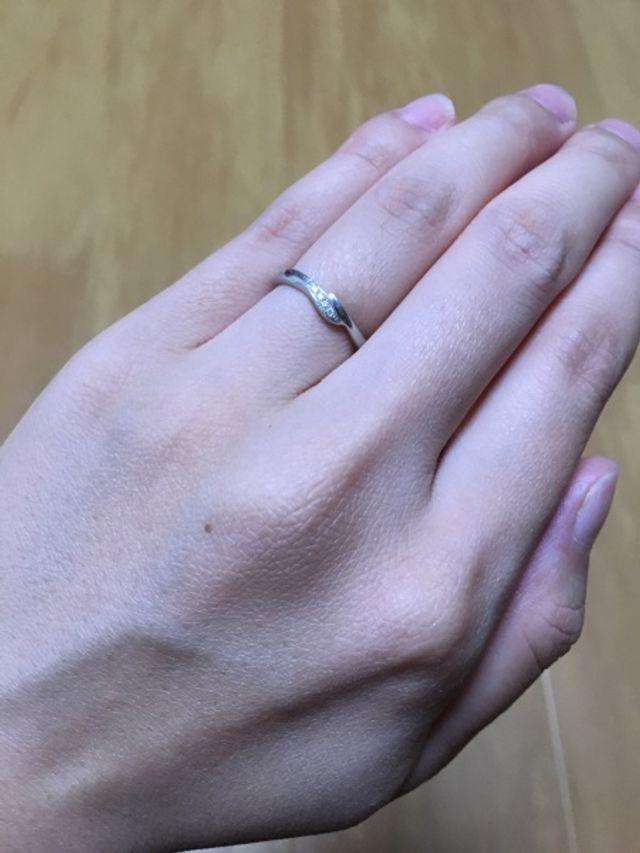 指輪のデザインが気に入りました。