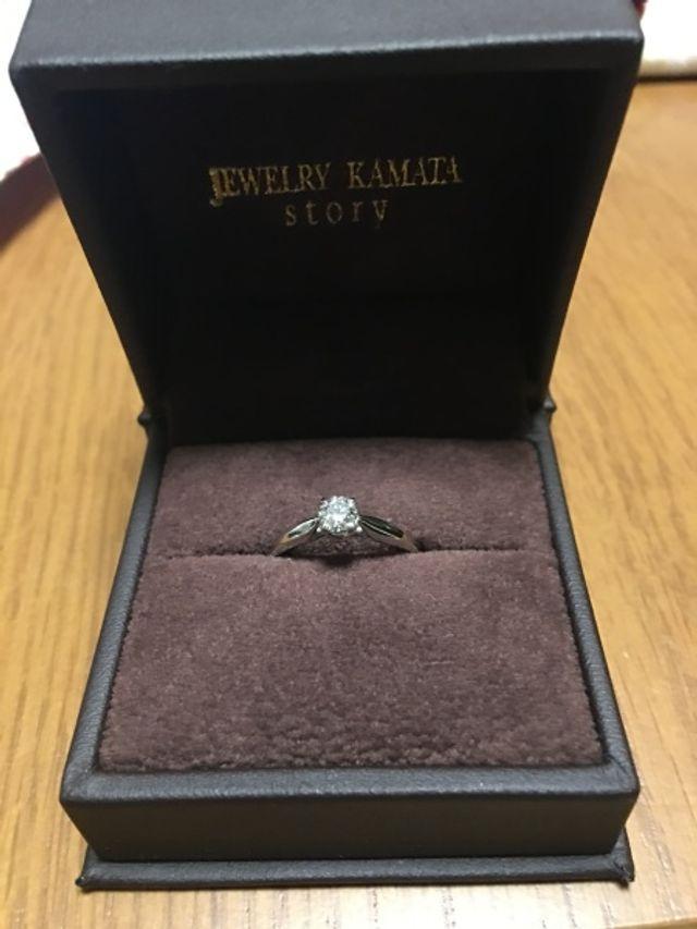 婚約指輪を購入しました。