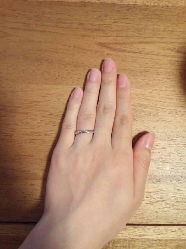 銀座ダイヤモンドシライシの結婚指輪です。