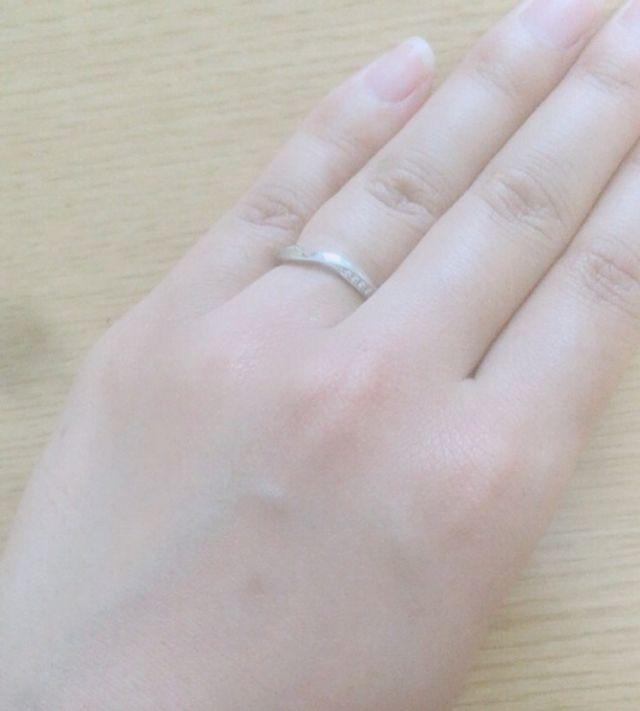NIWAKAの結婚指輪「茜雲」です。