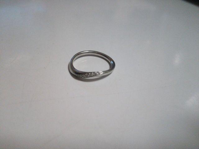 4℃の指輪。結婚指輪です。