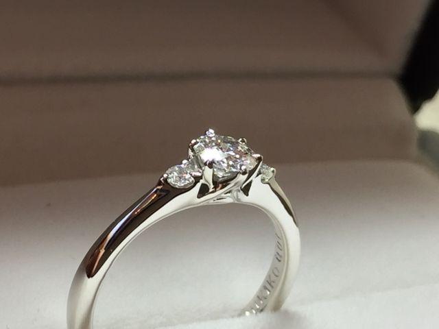 最高の形で指輪が手元に届きました