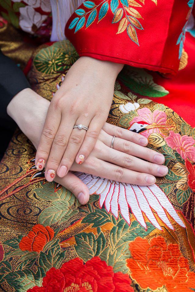 結婚指輪は旦那とペアのものです。
