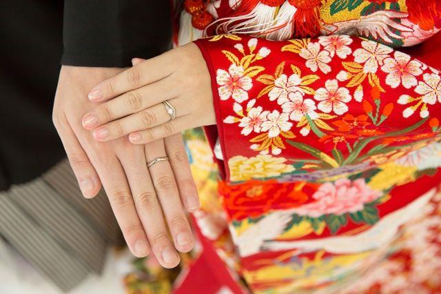 嫁は4号、旦那は12号。Mariageの婚約指輪と重ね付け