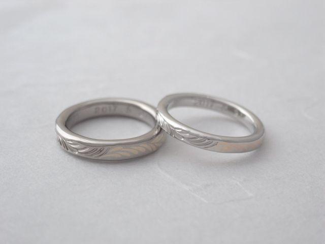 結婚指輪(購入店舗撮影)です。