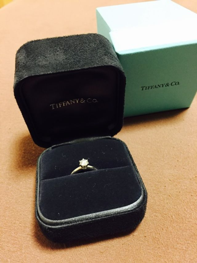 Tiffany 立て爪リング