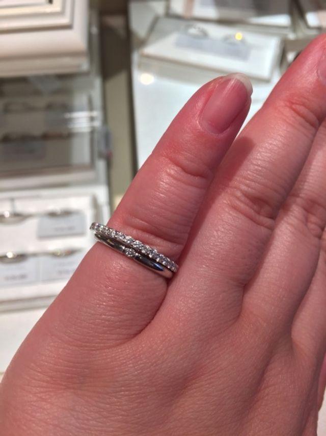 下が試着した指輪です。