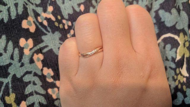 お気に入りの指輪です。