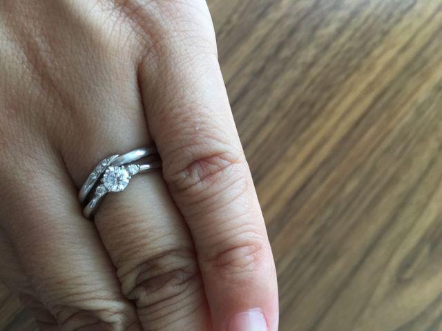 結婚指輪いっしょに