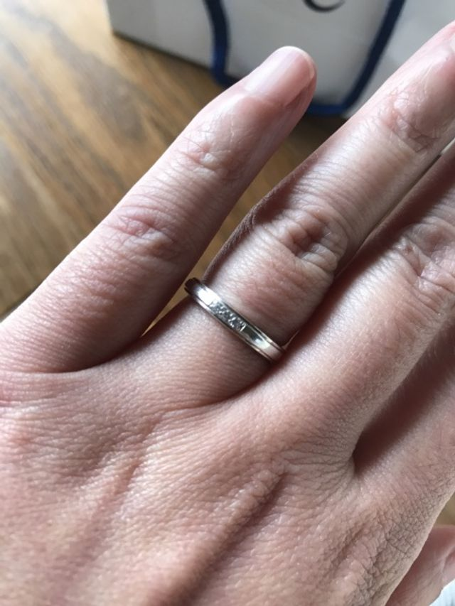 去年購入した結婚指輪です