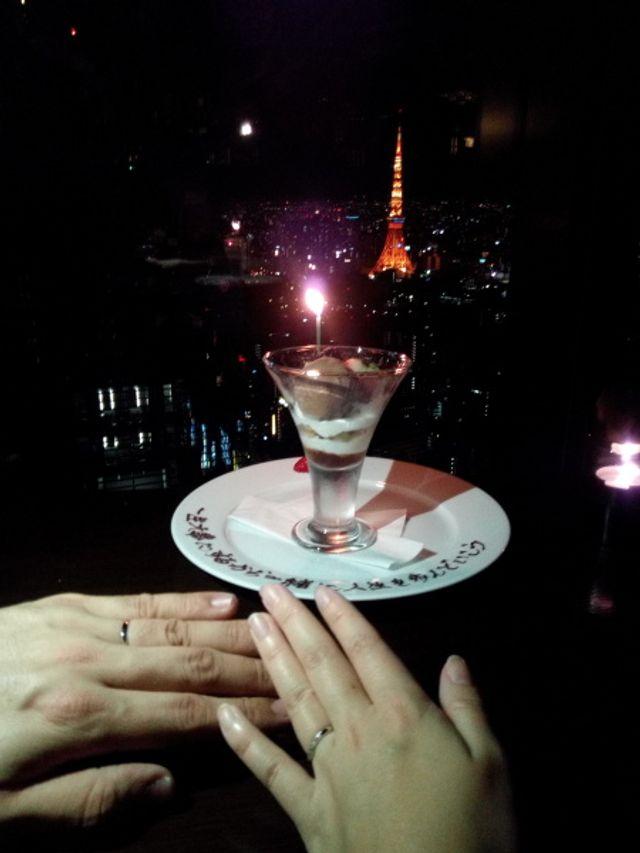 婚約指輪がなく、結婚指輪を購入してからのプロポーズ(笑)