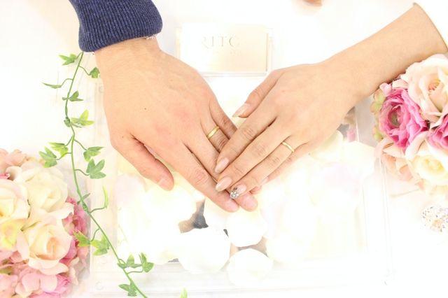 結婚指輪本来の耐久性を残しつつ、ぎりぎりまで細くしました。