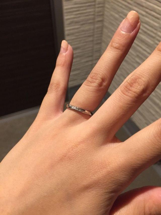 指輪をはめてみた感じ