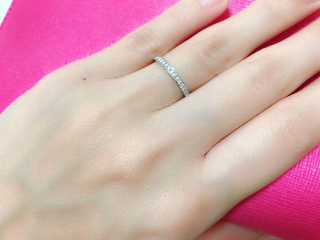 輝きがとってもキレイで他の指輪とも合わせやすい