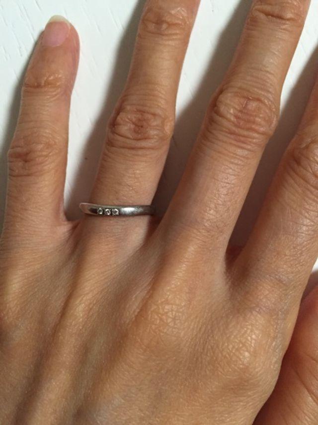 指輪装着の図