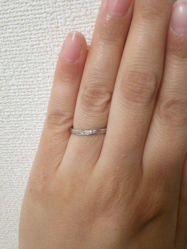 4℃の結婚指輪です。