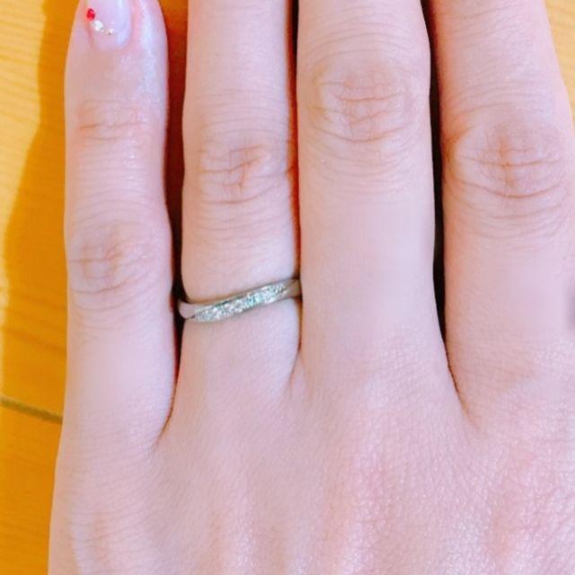レディース結婚指輪です。 こう見えてチタン製です。