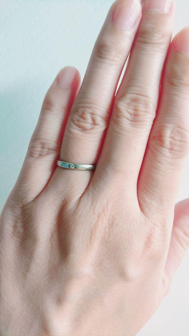 指輪をはめた雰囲気