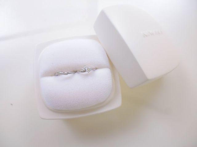 婚約指輪の月彩と、結婚指輪の初桜です。