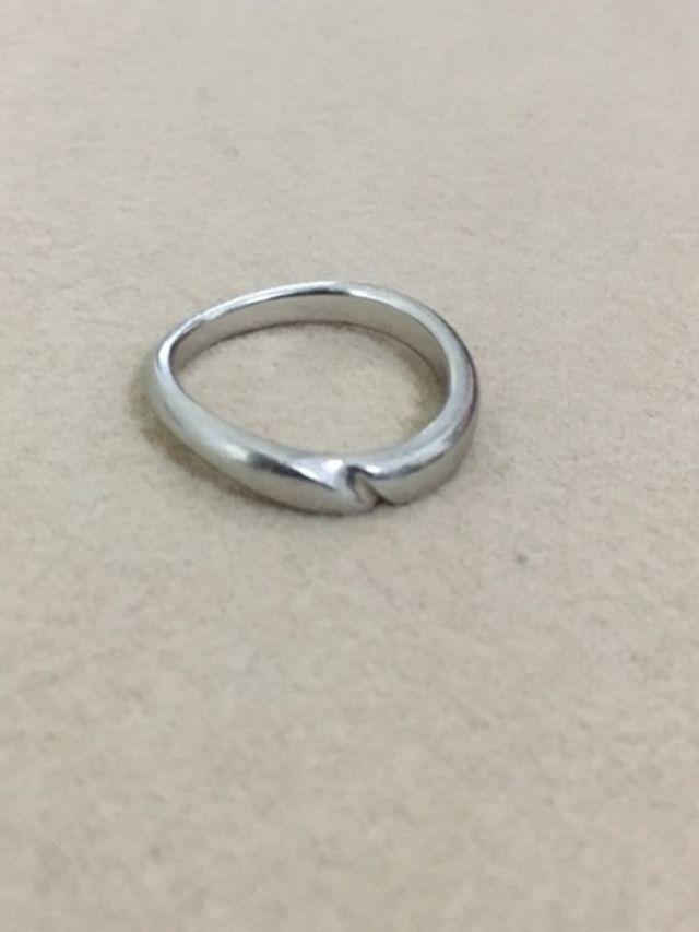 妻が選んでくれたお揃いの指輪です