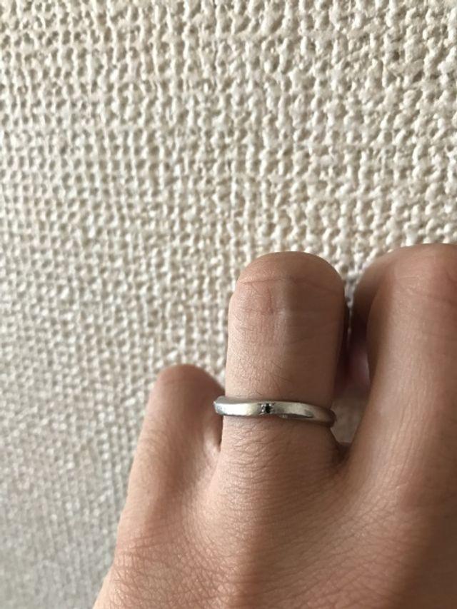 装着時、指輪アップ