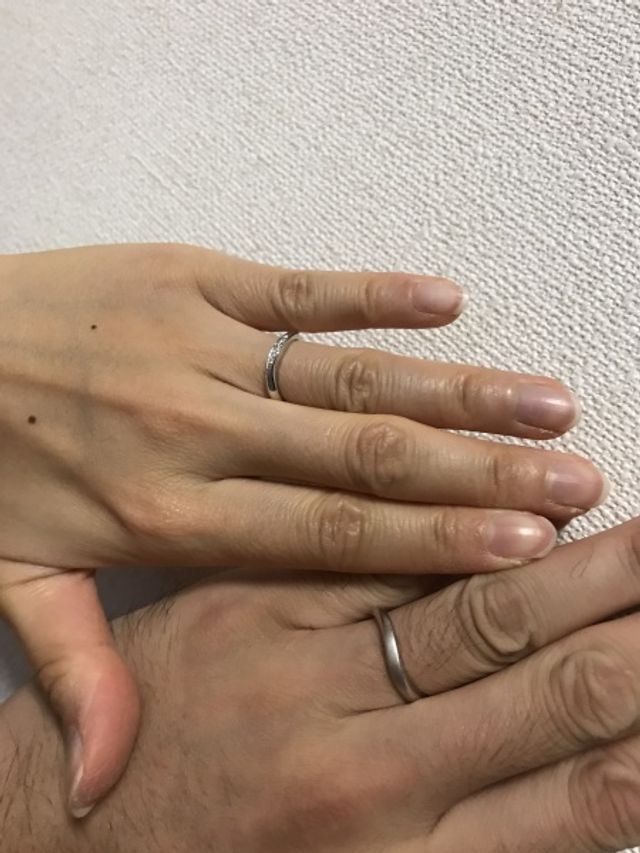 ダイヤモンドシライシさんで素晴らしい指輪を購入できました。