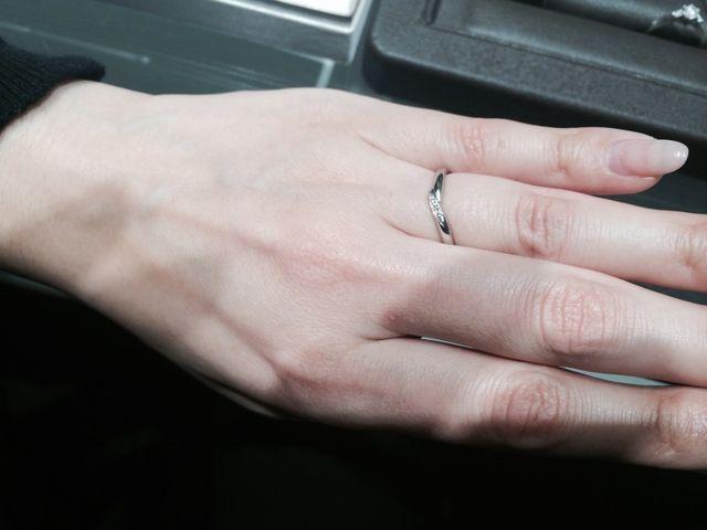 彼女の結婚指輪候補です。梅田
