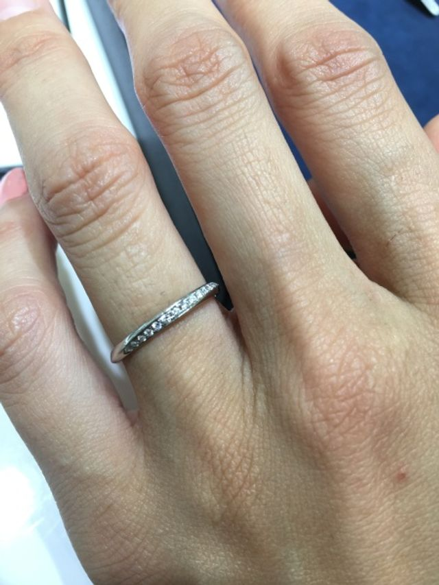 結婚指輪の試着です