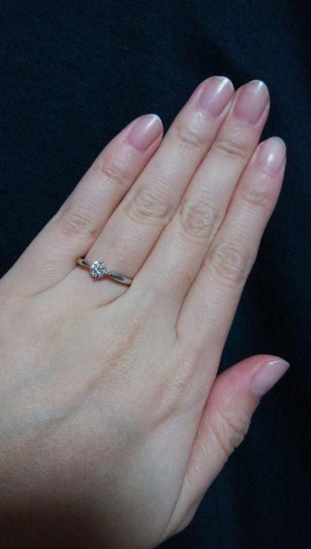 自分の指にぴったりのリングを選べました。