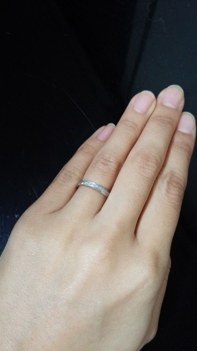 現在している結婚指輪です。