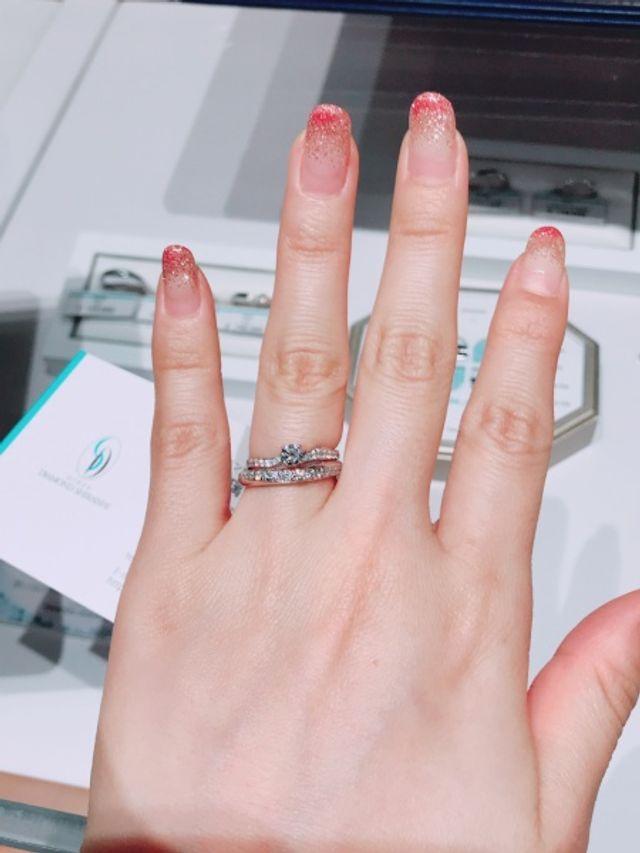 俄の婚約指輪と銀座ダイヤモンドシライシの結婚指輪